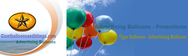 Giant Balloons and helium advertising blimps increase sales!